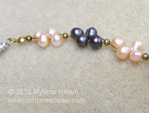 Multi strand freshwater pearl necklace