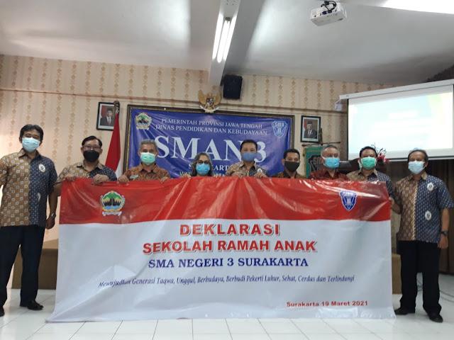 Deklarasi Sekolah Ramah Anak, SMAN 3 Surakarta Siap Cetak Siswa Berkualitas