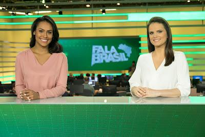 Apresentadoras Salcy Lima e Roberta Piza; Crédito: Antonio Chahestian/Divulgação Record TV