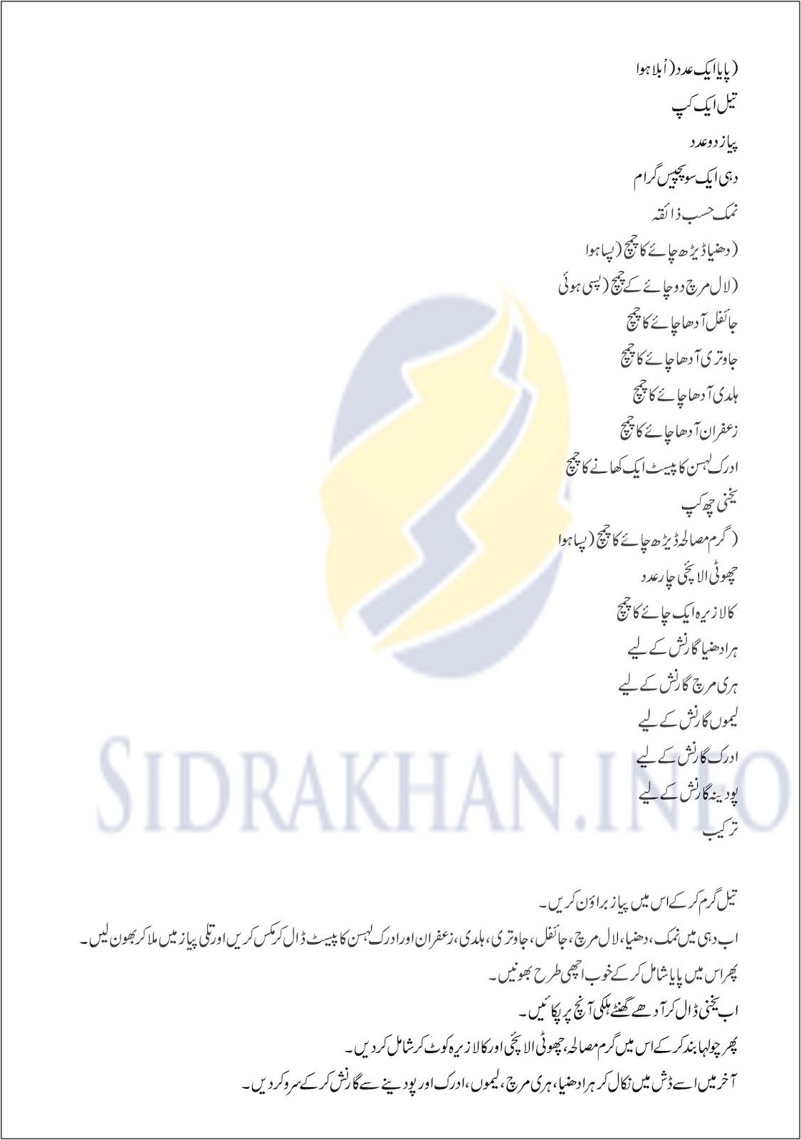 Zafrani Paaye urdu