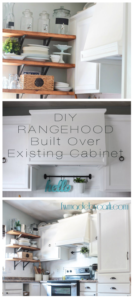 My DIY Kitchen: How I Built A Rangehood Over An Existing Cabinet