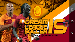 Dream League Soccer DLS 19 Mod Galatasaray Apk Data Obb