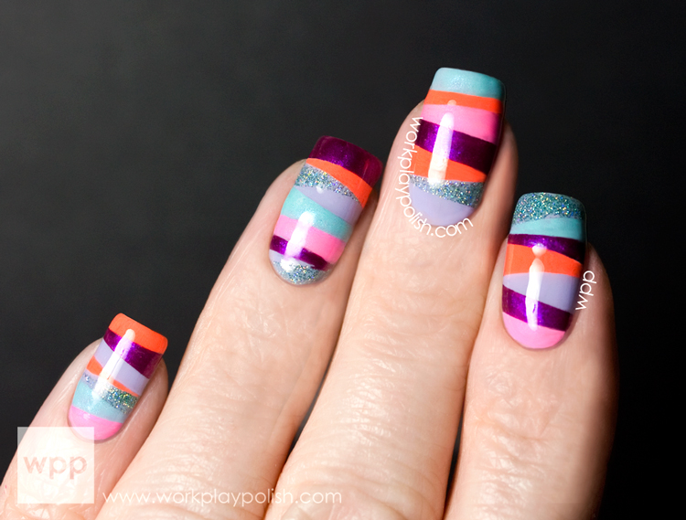 Tape Mani using the whole Orly Mash Up Collection
