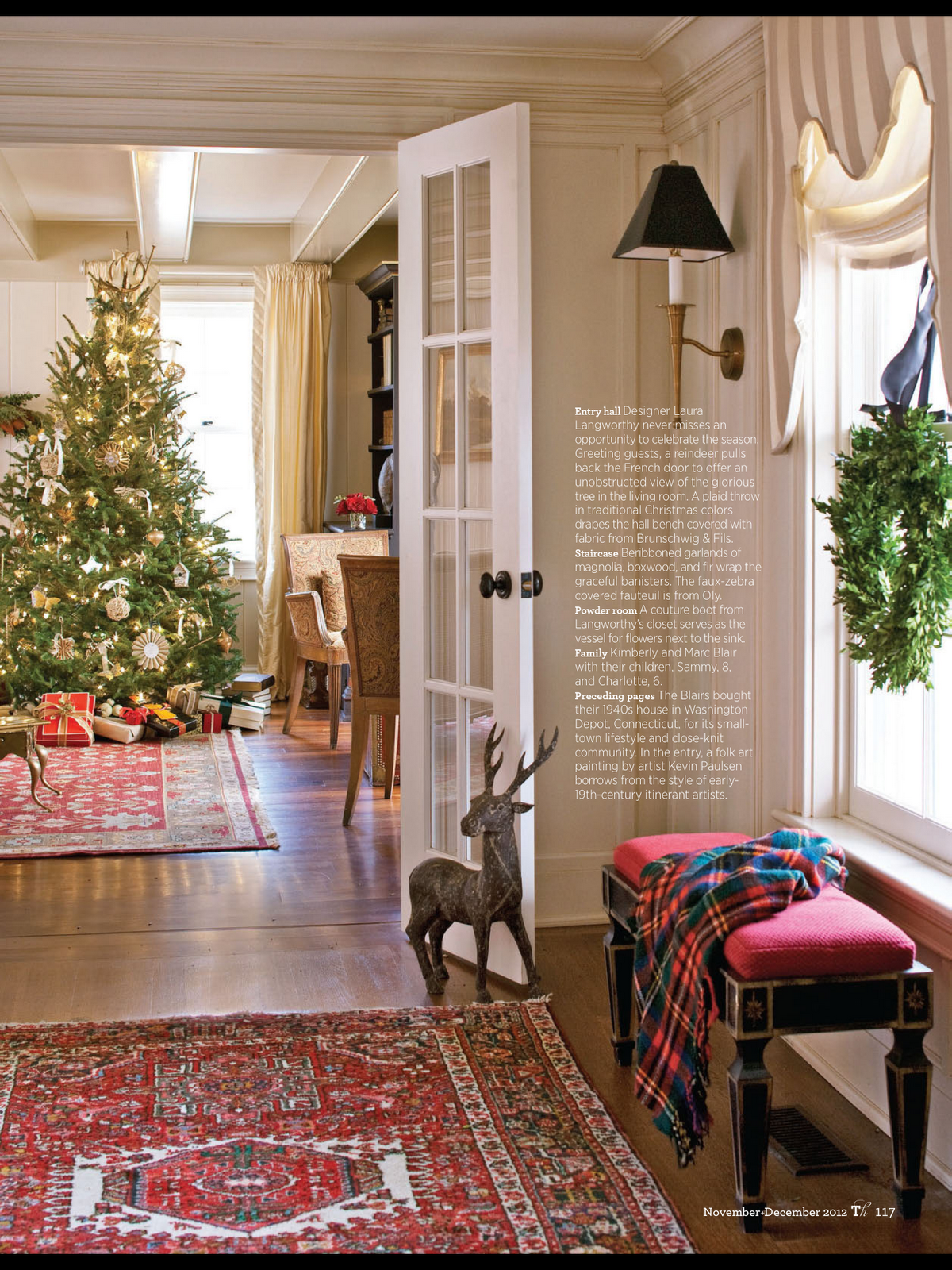 Home Decor Interior Design: Home Design Interior: New England Design: Holiday Style