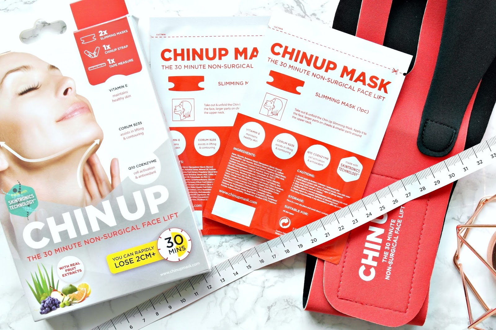ChinUp mask, review, before and after pics