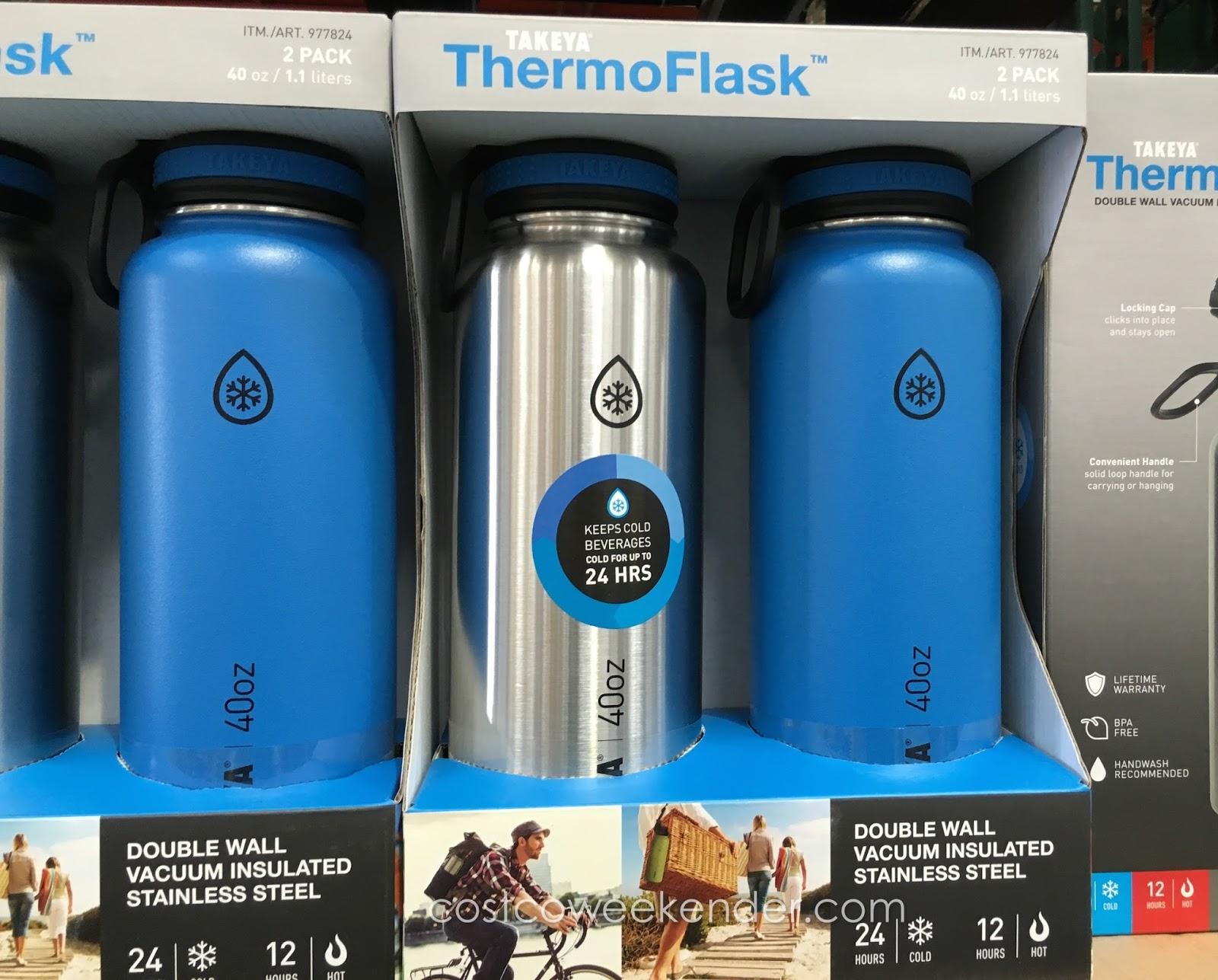 Takeya ThermoFlask Water Bottle (2 pack) | Costco Weekender