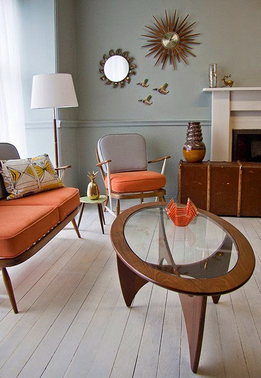 Fotos decoración vintage. Muebles estilo danés. Mesitas marca G-plan