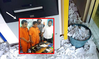 Hati-hati Buang Kertas Struk di ATM, 2 Pria Ini Bobol 3 Bank dan Kuras Rp 300 Juta Gunakan Struk Bekas