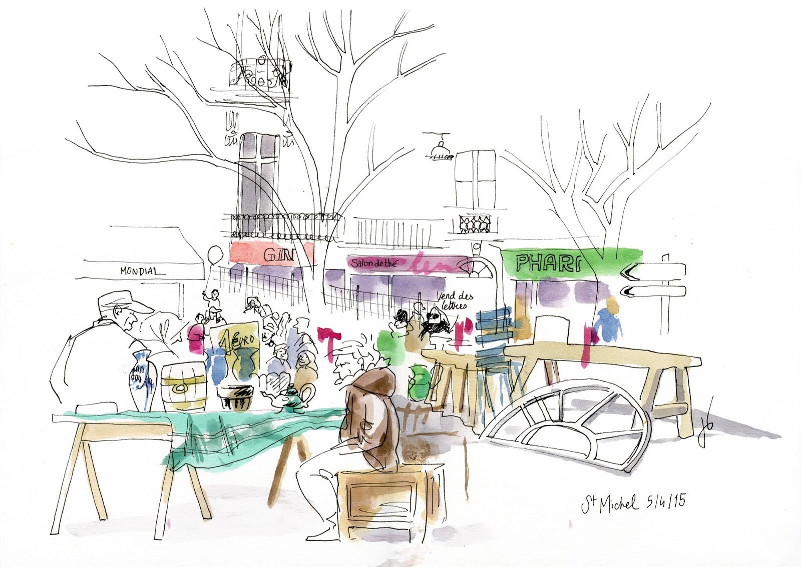 urban sketchers france le nouveau quartier saint michel bordeaux. Black Bedroom Furniture Sets. Home Design Ideas