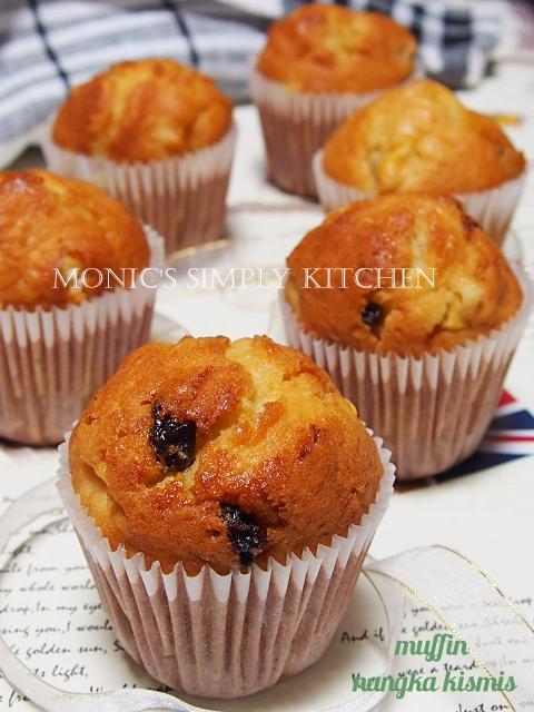 resep muffin nangka kismis