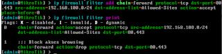 Menambah Rule Firewall Filter