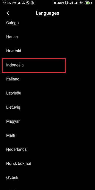 Cara Mengubah Bahasa di Whatsapp 1