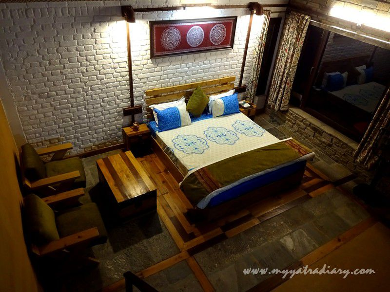 Aipan suite in the Himalayan Bungalow Boutique homestay Almora