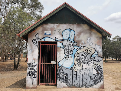 Wagga Wagga Street Art | Ashmont Skate Park mural by Styles400_ & Kyle Pearson