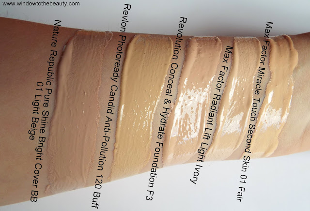 Max Factor Radiant vs Max Factor Miracle Touch Second Skin