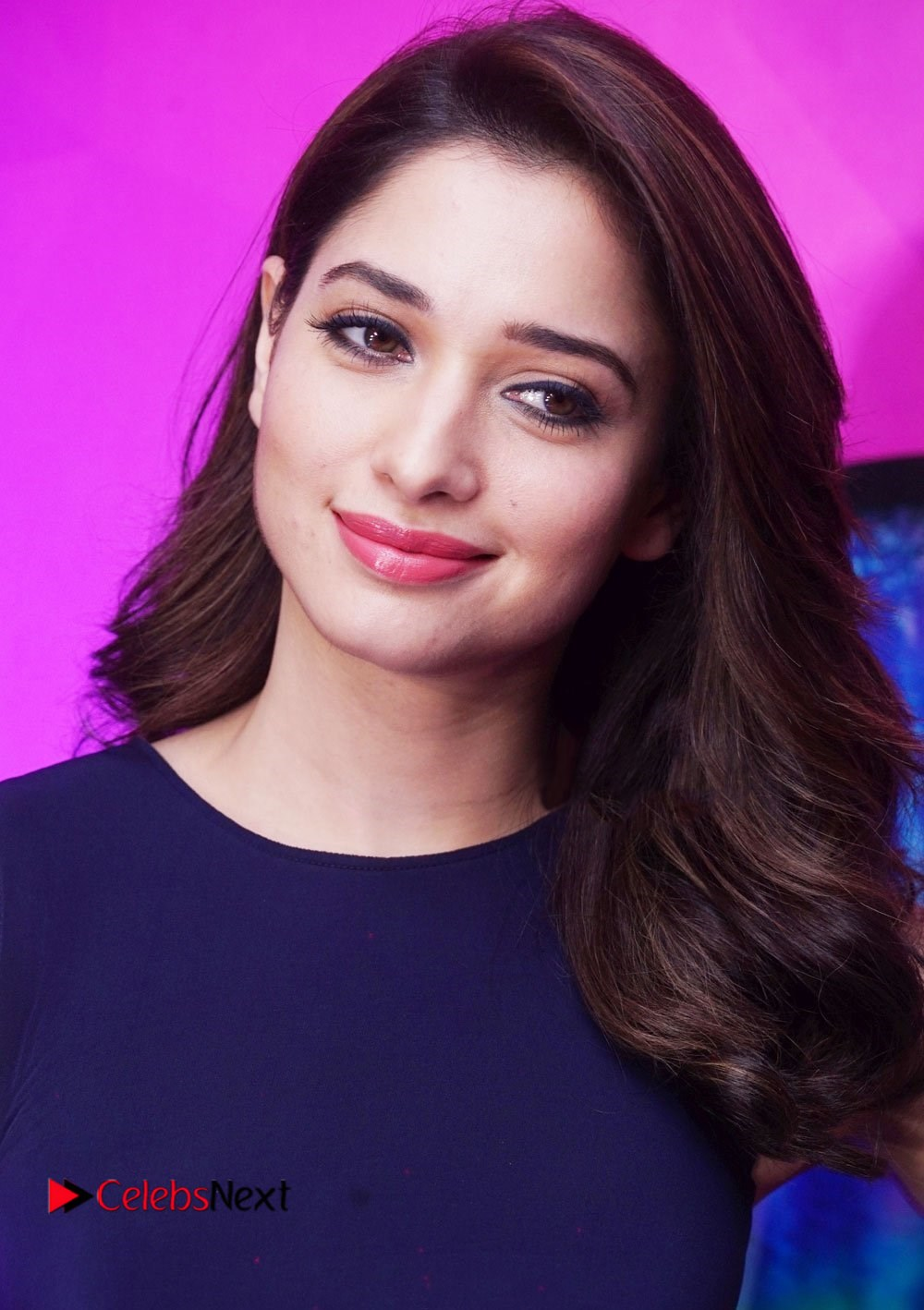 Tamanna Stills in Blue Short Dress at DJ KD Belle Debut Party