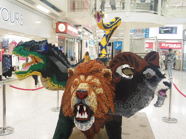 The Chimera - Mythical Beasts LEGO statue at The Mall, Luton