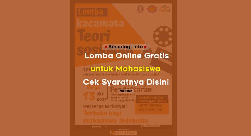 Lomba Online Gratis Mahasiswa, Cek Syaratnya Disini