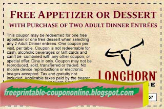 Free Printable Longhorn Steakhouse Coupons