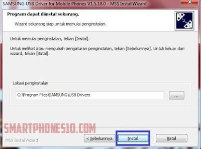 Cara Install Samsung USB Driver Di PC atau Laptop
