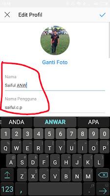 Mengganti Nama Pengguna Di Instagram