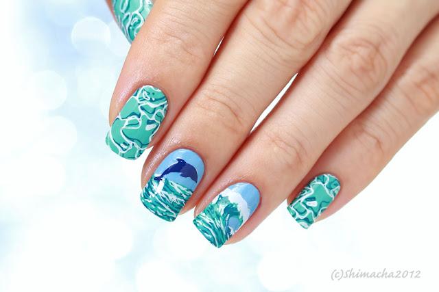 mouyou london Paradise Collection, nailstamping, stampingnail, スタンピングネイル, ネイルスタンプ , 海ネイル, 夏ネイル