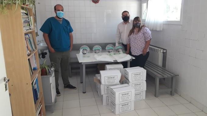 Iglesia evangélica donó protectores faciales al hospital de Cholila