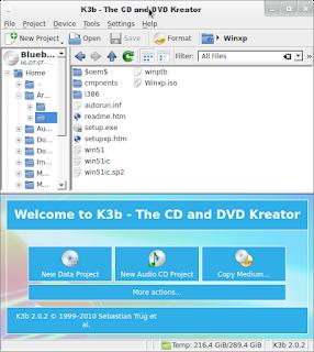 K3b grave suas midas no Linux