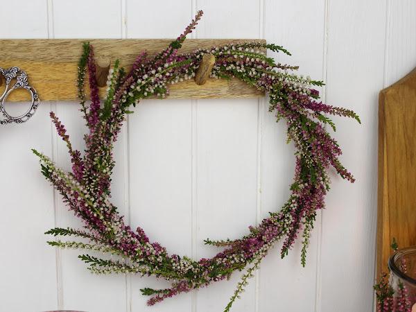 DIY - Blumenkranz aus Heidekraut (Erika) schnell und einfach selber machen - wunderschöne Herbstdeko