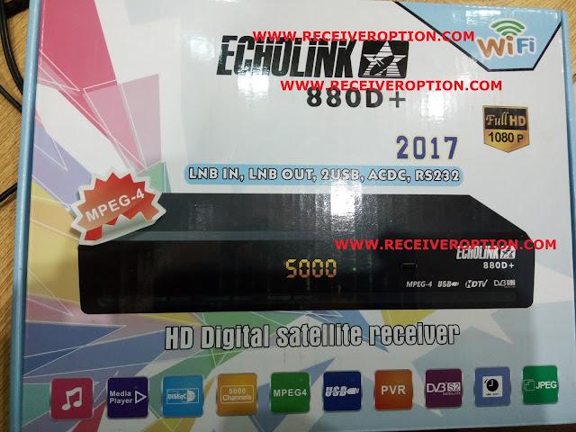 ECHOLINK 880D+ HD RECEIVER BISS KEY OPTION