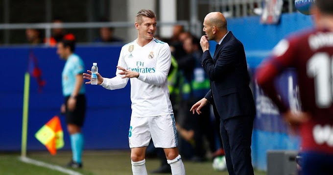 Kroos has revealed that Zidane has 'everything happening in Real Madrid under control'