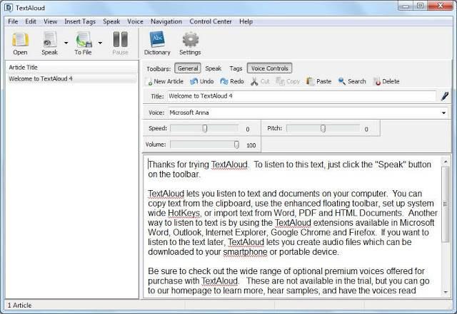 Screenshot NextUp TextAloud 4.0.38 Full Version