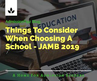 Nigerian universities JAMb 2019
