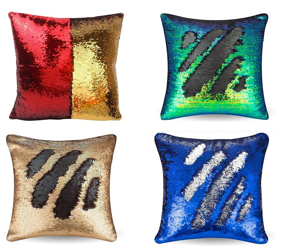 hufflepuff magic sequin pillow