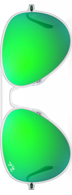 Ray-Ban Aviator Light Ray Green Mirrored