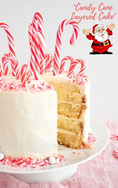 Candy Cane Layered Cake