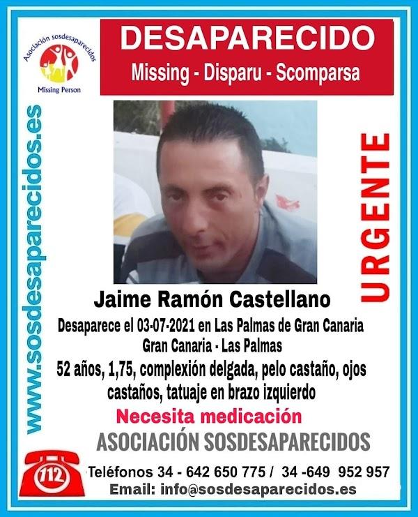 Hombre desaparecido en Las Palmas de Gran Canaria y necesita medicación