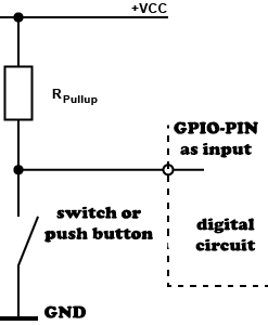 Raspberry Pi connect GPIO with pull-up or pull-down