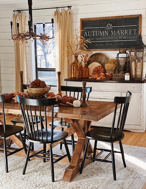farmhouse fall dining room