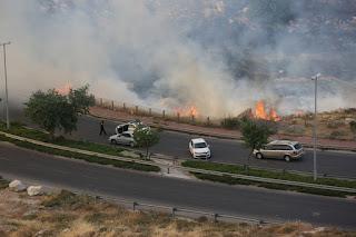 Coquetéis molotov causam grande incêndio em Jerusalém