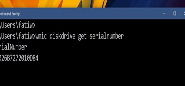 كيفية العثور على الرقم التسلسلي للقرص الصلب في الويندوز بدون فتح الجهاز