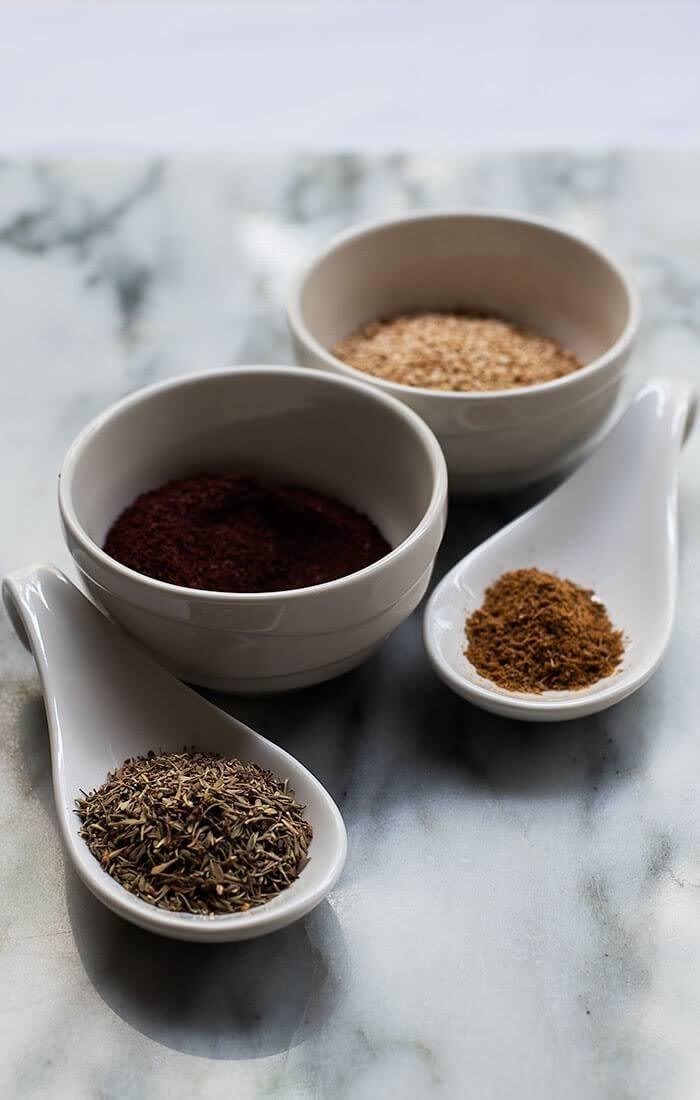 Ingredients for Zaatar
