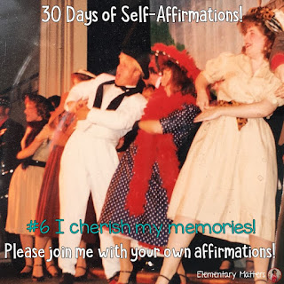 "30 Days of Self-Affirmations: Day 6: I cherish my memories! For 30 days, I will be celebrating my own ""new year"" with self-affirmations. If you are interested in joining me, feel free to  write your own affirmations here, or respond on my social media here: http://bit.ly/2JuKRWa"
