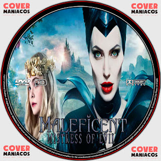 GALLETA LABELMALEFICENT MISTRESS OF EVIL- MALEFICA MAESTRA DEL MAL 2019 [COVER DVD]
