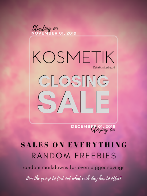 KOSMETIK Closing Sale Details