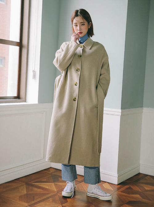 Detachable Faux Layer Coat