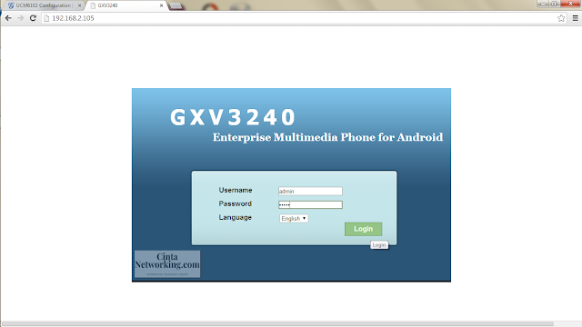 Cara Mudah Kоnfіgurаѕі IP Phоnе GXV3240 Mеnggunаkаn IP PBX UCM6102  - Cintanetworking.com
