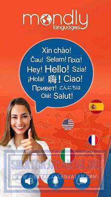 aplikasi belajar bahasa asing mondly