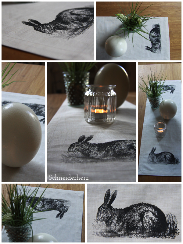 Siebdruck Screenprint diy Hase