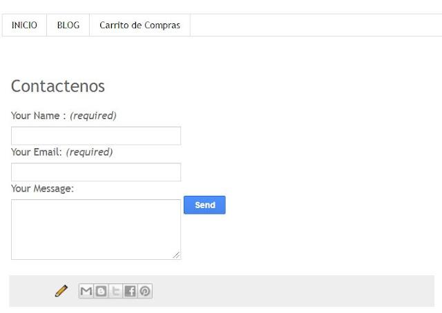 Como colocar un formulario de contacto en Blogger en una pagina